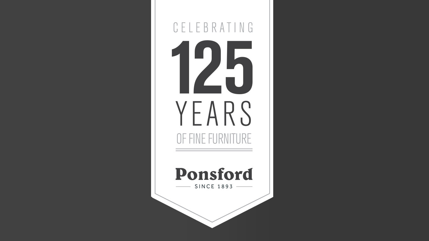 Ponsford 125 Years Logo