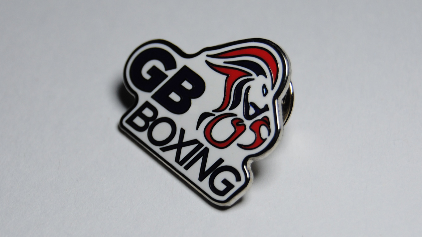 GB Boxing Pin Badge