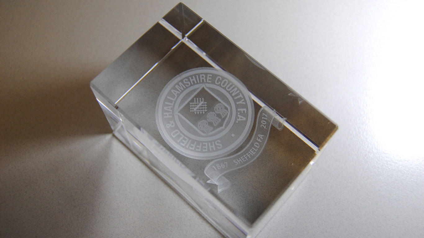 Sheffield & Hallamshire County F.A. Paper Weight